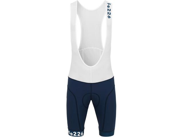 Fe226 StrongRide Bike Bib Shorts, blanc/bleu